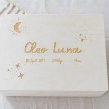 Erinnerungsbox Holz Baby Geschenk Geburt