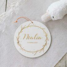 Holzschild Name Geburt Malia