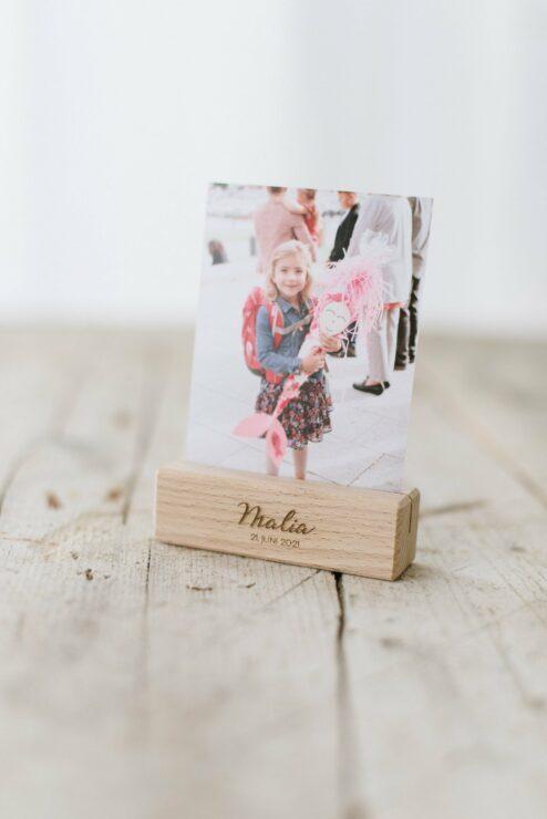 Kartenhalter Fotohalter Holz Gravur Taufe Hochzeit