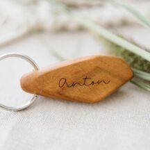 Schlüsselanhänger mit Namensgravur