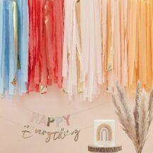 Streamer Dekoration pastell Regenbogen