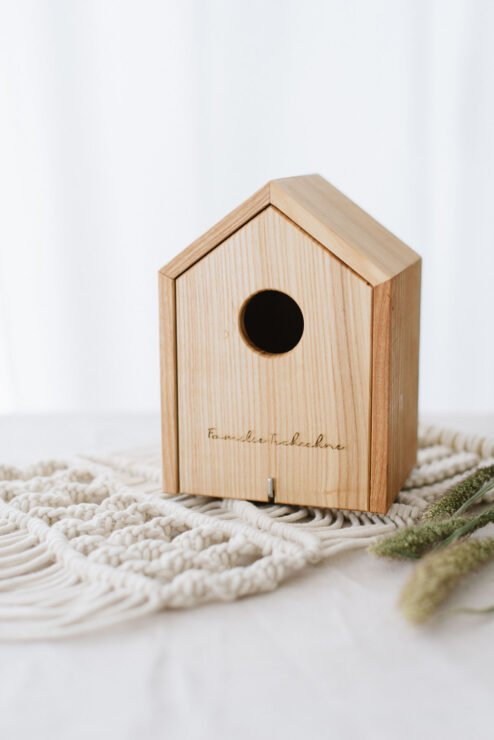 Vogelhaus Eiche modern Familie Name