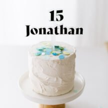 Cake Topper Jonathan schwarz zweifarbig Laser