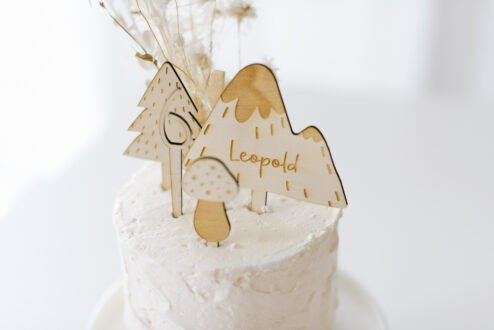 Cake Topper Waldgeburtstag Holz