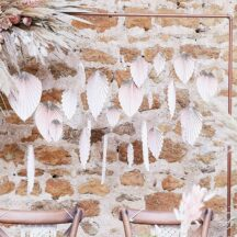 Dekoration Palmenblatt blush