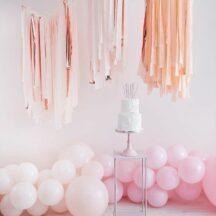 Streamer Dekoration pink, blush, roségold