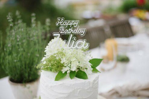 3D Cake Topper Happy Birthday Julia