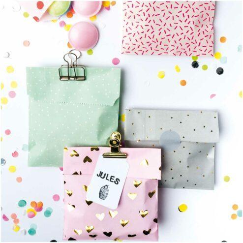 Geschenktüten Mix rosa mint (20 Stück)