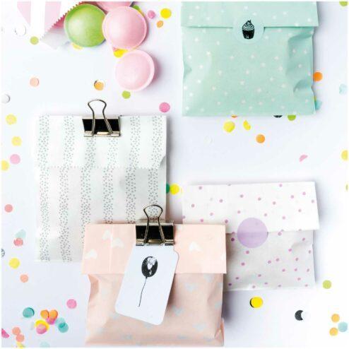 Geschenktueten Mix weiß rosa (20 Stueck)