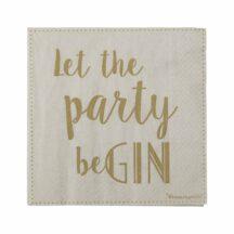 Papierserviette 'Let the party begin'