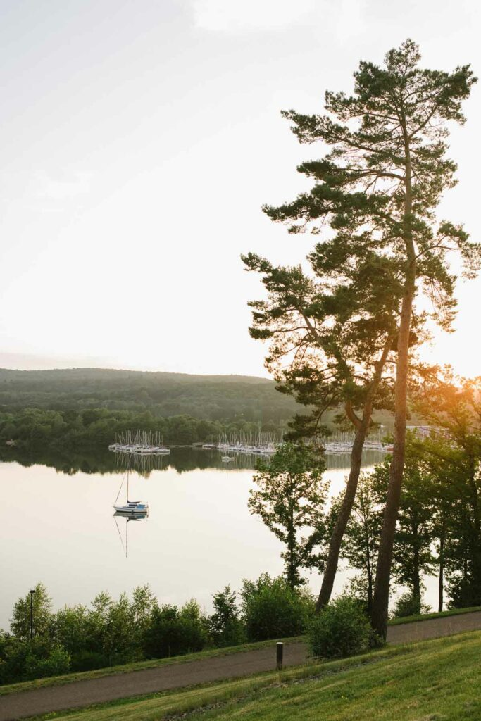 Sonnenuntergang am Bostalsee