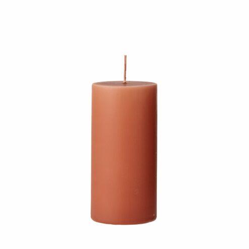 Stumpenkerze Anja orange (Hoehe 15cm)