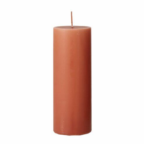 Stumpenkerze Anja Orange (Hoehe 20cm)