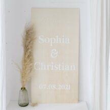 3D Schriftzüge fürs Willkommensschild 'Sophia'