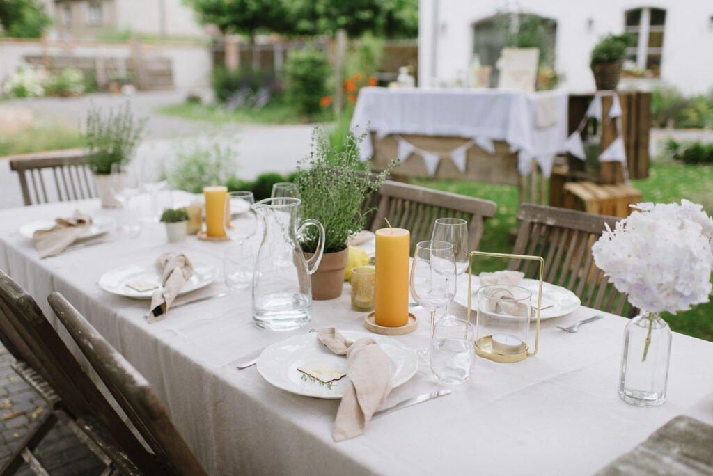 Tischdeko Mediterrane Gartenparty zum 40. Geburtstag