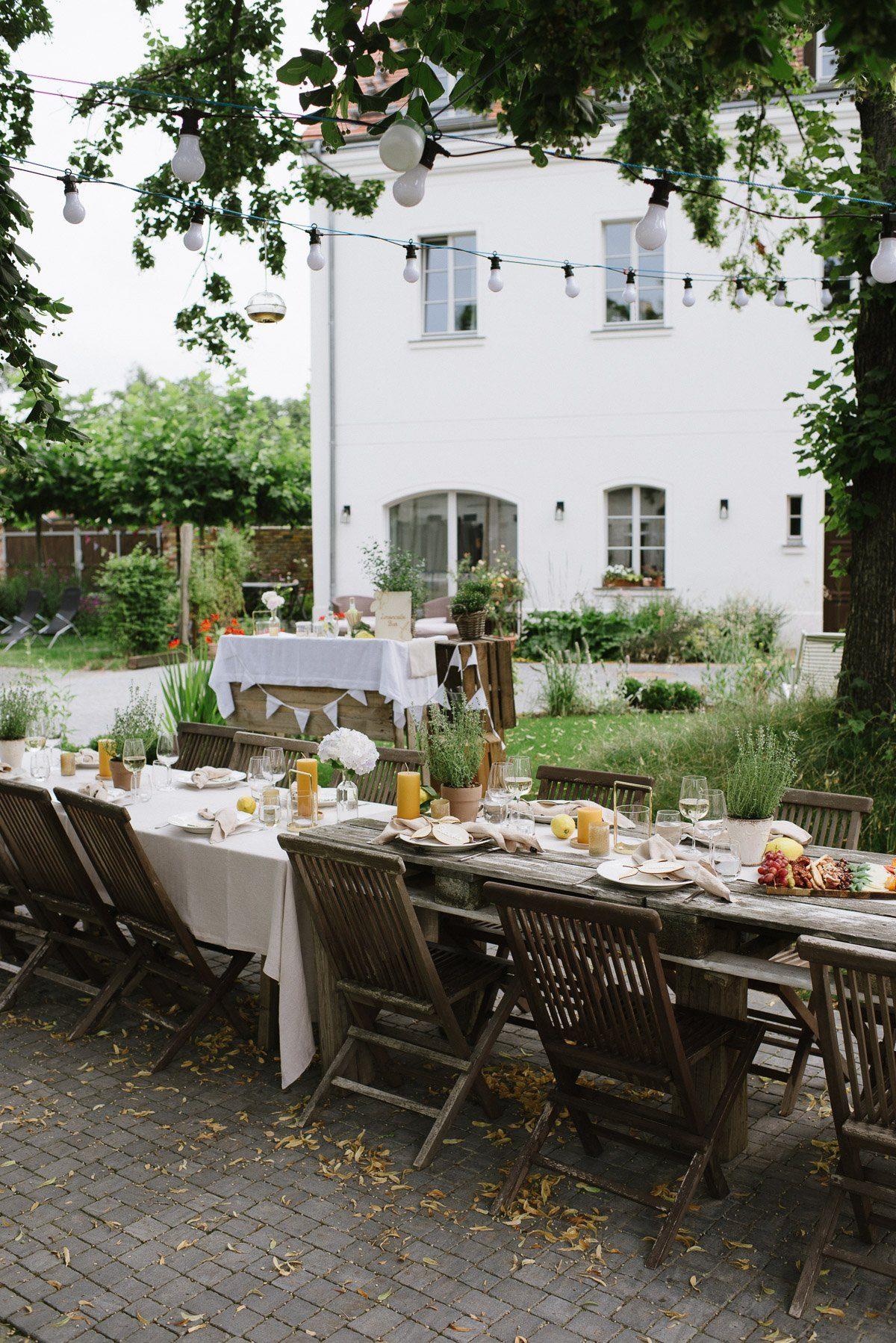 Mediterrane Gartenparty zum 40. Geburtstag