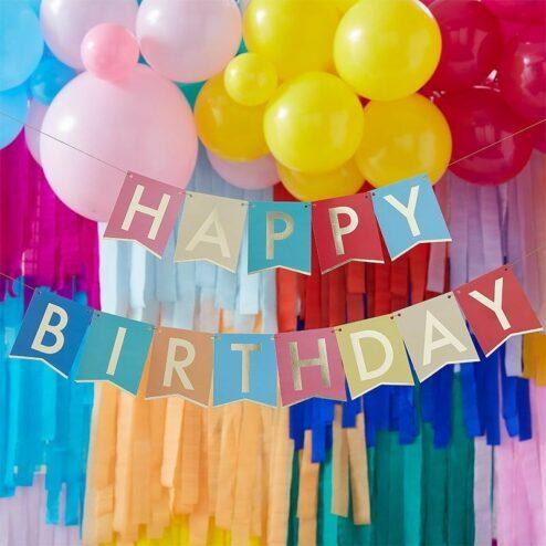 Girlande Happy Birthday bunt