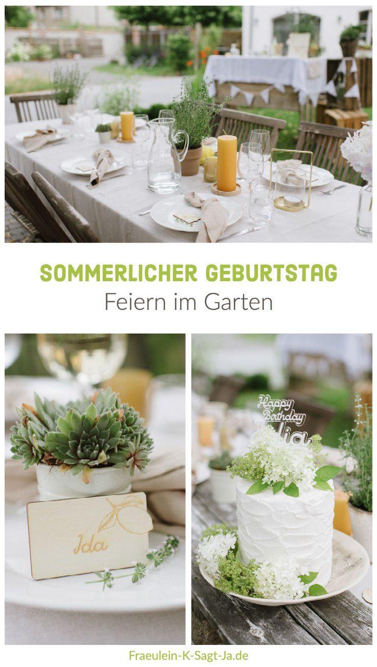 Sommerlicher Geburtstag im eignen Garten - Deko, Essen, Bar