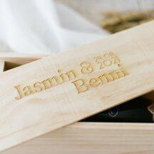 Weinkiste Hochzeit Jasmin