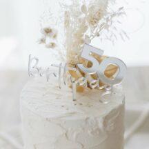 Cake Topper Birthday + Zahl