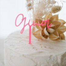 Cake Topper Gina neon pink