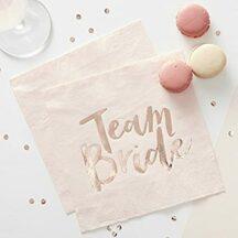Papierserviette Team Bride rosegold