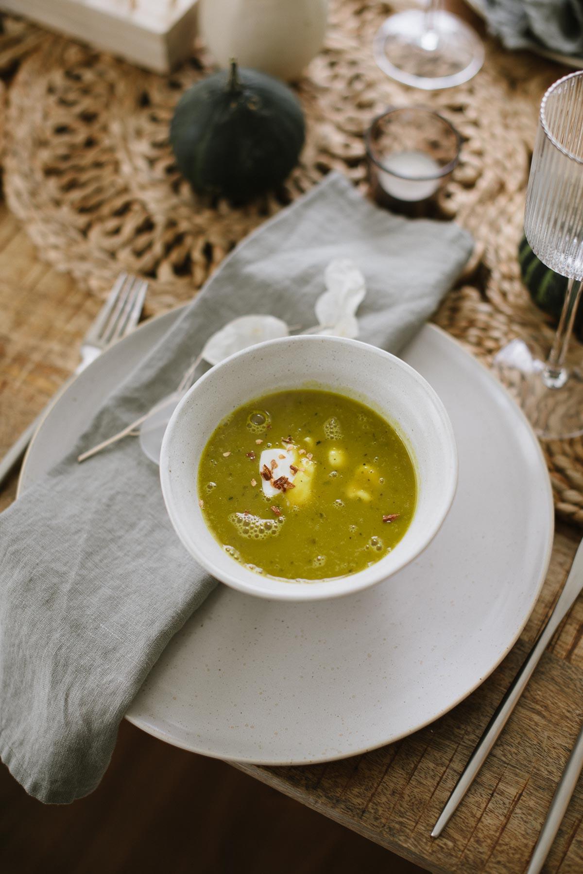 Grüne Kürbissuppe - Mein Lieblingsrezept