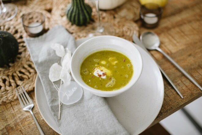 Rezept grüne Kürbissuppe