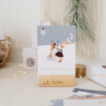 Adventskalender Winterkinder Postkarten Affirmation