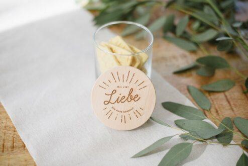 Mit Liebe gemacht Glas