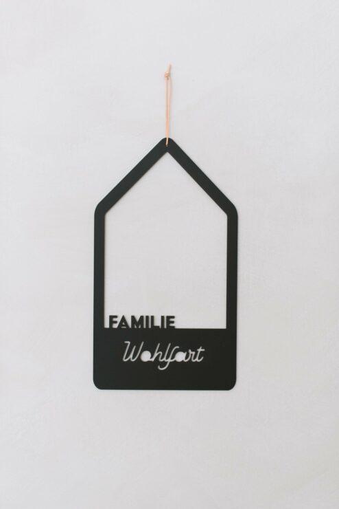 Türschild Familienhaus personalisiert