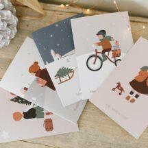 Weihnachtskarten Winterkinder