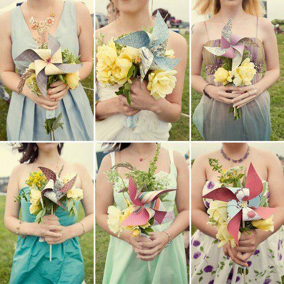 Sonntagshäppchen: Brautstrauß mit Windrädchen