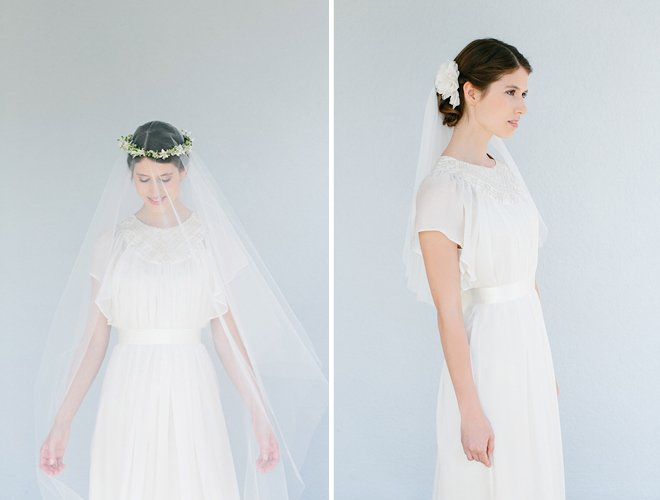 Accessoires für Haare der Brautfrisur Schleier sind wieder Trend