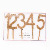 Acrylzahlen Goldglitter Cake Topper-2