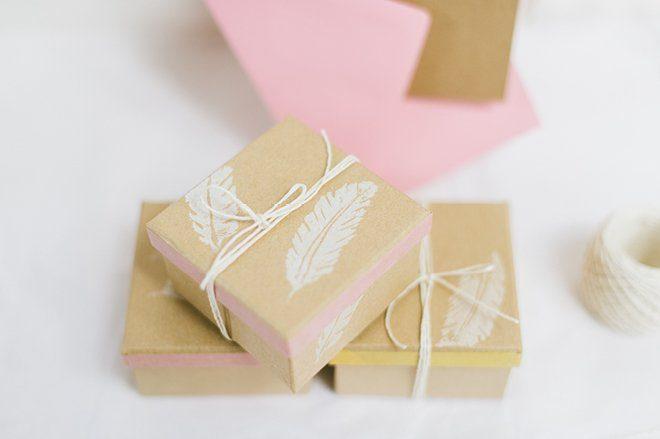 Anleitung DIY Stempel auf Kraftpapier selbst herstellen für die Hochzeit