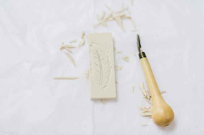Anleitung DIY Stempel selbst herstellen für die Hochzeit2