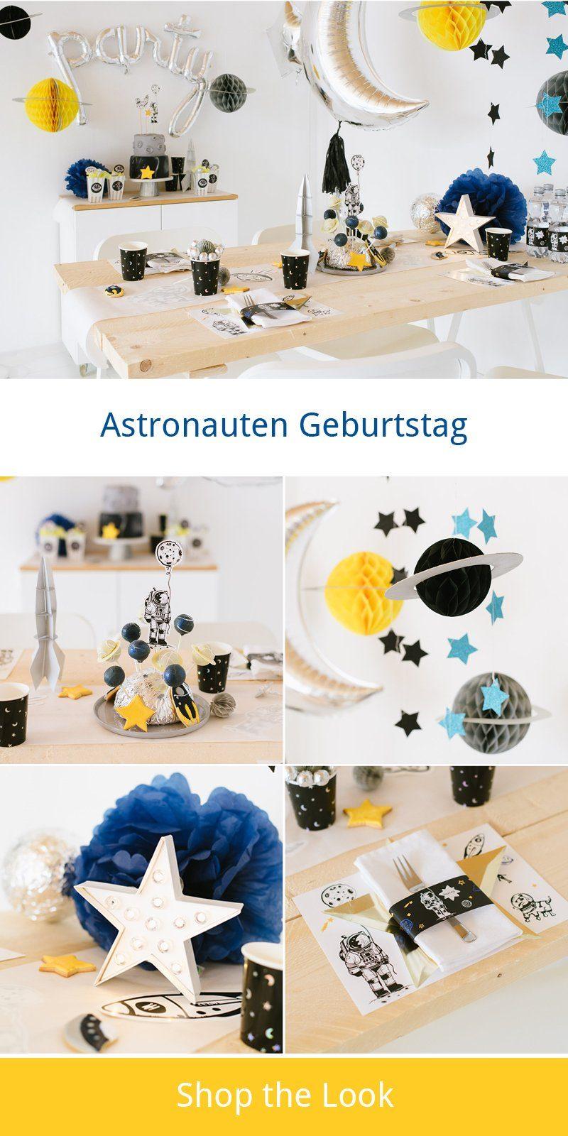 Dekoration Spiele Astronauten Kindergeburtstag