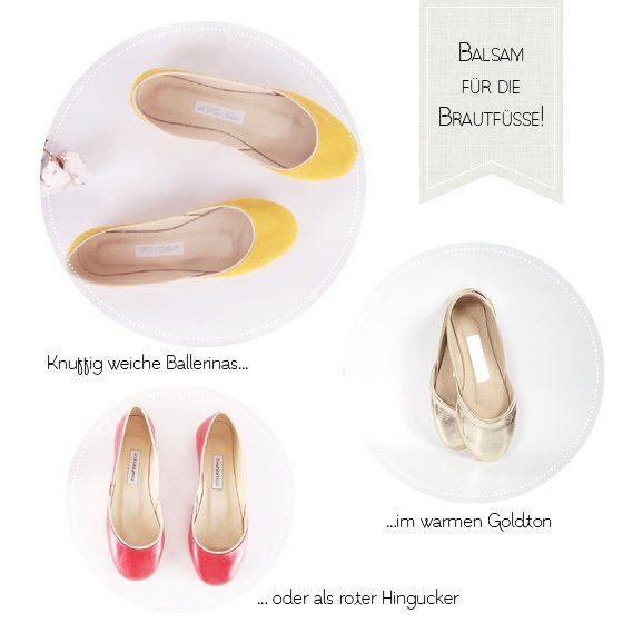 Was weiches, wohliges: Ballerinas für Hochzeitsfüße