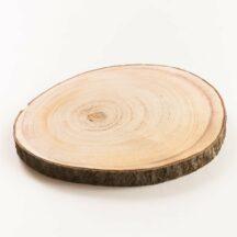 Tischdekoration Scheunenhochzeit: Holzscheiben