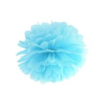 Seidenpapier Pompom aqua hellblau