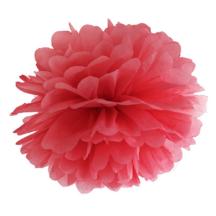 Seidenpapier Pompom rot fuer die Hochzeitsdeko