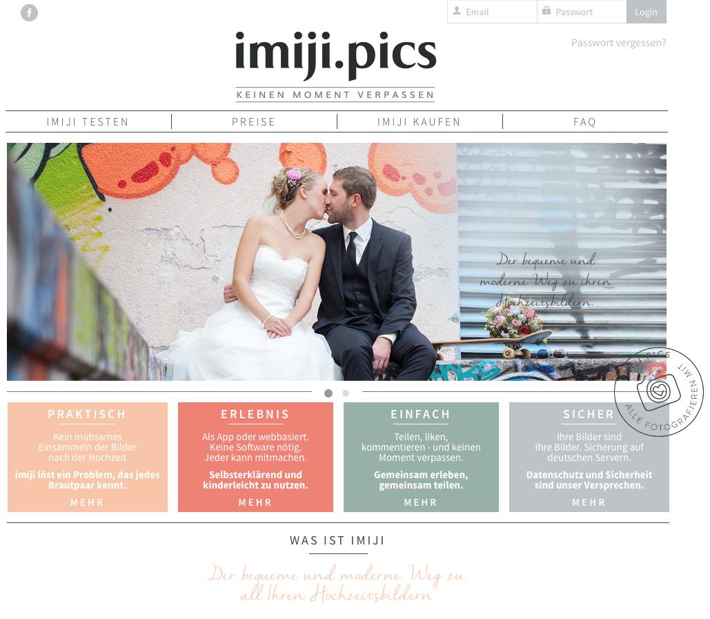 Imiji Hochzeitsbilder sammeln und teilen