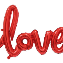 Love script ballon red rot