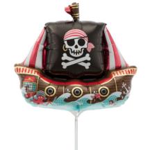 Piratenschiff Ballon Folienballon auf Stab