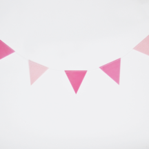 Wimpelgirlande pink Dekoration Kindergeburtstag