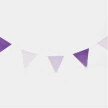 Wimpelgirlande violet lila