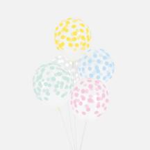 Ballonset mit Pastell Punkten