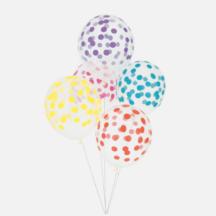 Ballons mit bunten Punkten