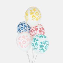 Ballons mit tropischen Blumen